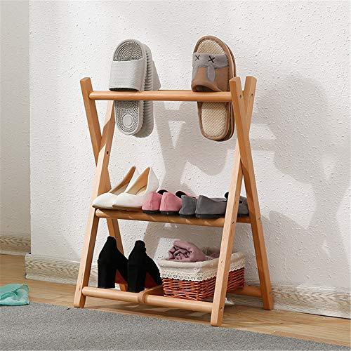 HBING Zapatero De Madera, Portátil, Plegable, Integrado para Guardar Zapatos, Zapatero Pequeño En La Entrada, para Dormitorio, Pasillo, Armario, Entrada, Dormitorio,Wood Color