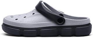 WYTX Talla 40-45 Sandalias Planas de Verano para Hombres Resbalón en Agua Transpirable Zapatillas de Playa Zapatos Amarill...