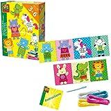 SES Creative Aprendo a bordar figuras - Kits de manualidades para niños (Kid de costura para niños, Aguja de coser, Lana, Niño/niña, 3 año(s), Niño, 6 año(s)) , color/modelo surtido