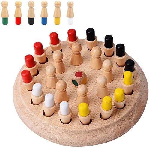 Canyita Juguete Educativo temprano para niños, Juegos de Memoria de Madera para niños y Adultos, Juego de Memoria de Madera Juego de ajedrez de Palo Juego de Rompecabezas Familiar en 3D