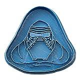 Cuticuter Kylo REN Star Wars Cortador de Galletas, Azul. 8x7x1,5cm