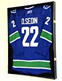 XL Hockey Jersey Frame Display Case Cabinet Shadow Box w/98% UV Protection -Black Finish