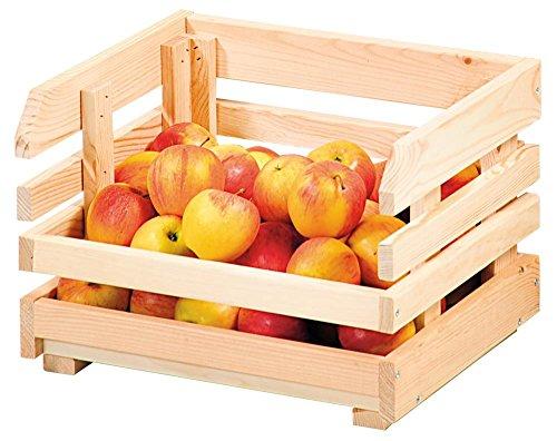 Kesper 2 Stück Kartoffelkiste/Obsthorde aus Kiefernholz, 37 x 30 x 26 cm, einzeln, FSC-Zertifiziert, max. statische Belastung ca. 25 kg