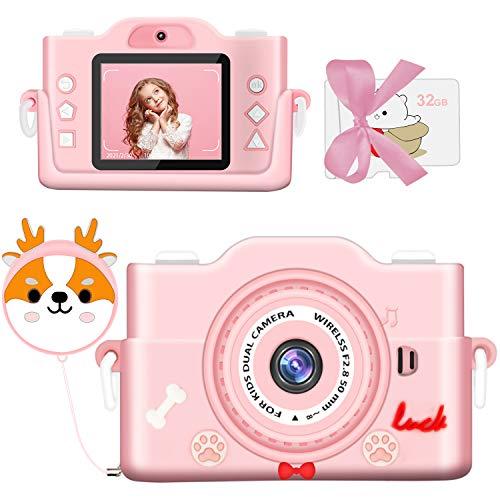 2021最新版子供カメラ 子ども用デジタルカメラ トイカメラ 7000万画素 1080P HD録画 8倍ズーム 高画質 タイマー撮影 自撮可能 MP3 &ゲーム機能付き USB充電 32GBメモリーカード付き 子供のおもちゃ 子供プレゼント 年齢制限6+