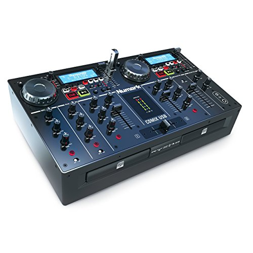 Numark CD Mix USB Lettore CD e MP3 e Mixer a Due Canali, con Due Display, Ingressi USB e Jog Wheel