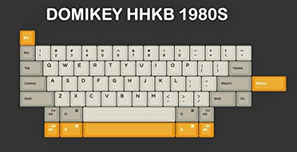Domikey hhkb abs doubleshot keycap Set 1980s 80s hhkb Profile for topre stem Mechanical Keyboard HHKB Professional pro 2 bt (Domi 1980s Set)