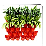 Homes Garden Self-Watering Vertical Garden Planter Indoor Outdoor Living Wall with Drip Irrigation Kit Terracotta 12 Pack (36 Pockets) #G-G707A06-US