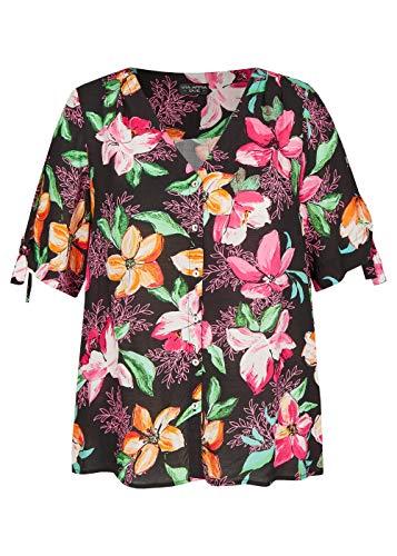 Via Appia Due Damen Schicke Bluse mit Allover-Blumen-Print