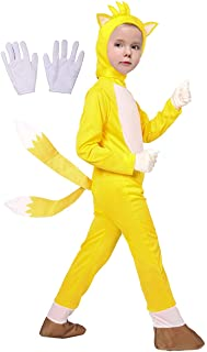 Halloween Kids Deluxe The Hedgehog Costume Cosplay Cartoon Bodysuit Pretend Play Onesies For Boys Girls