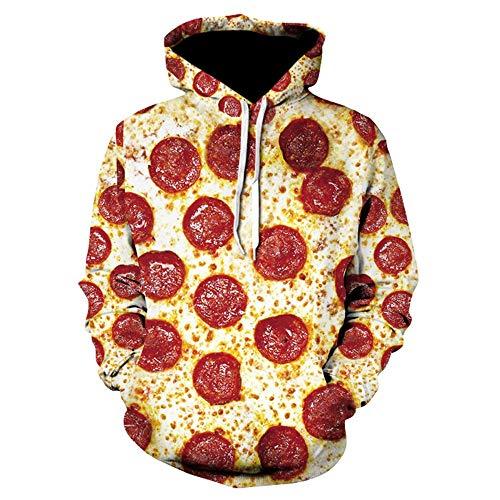 BMSYTY Reihe 3D - Hoodies für Frauen und männer Pullover Lange ärmel Sweatshirt 3D - Hoody mit Pizza - Design,m