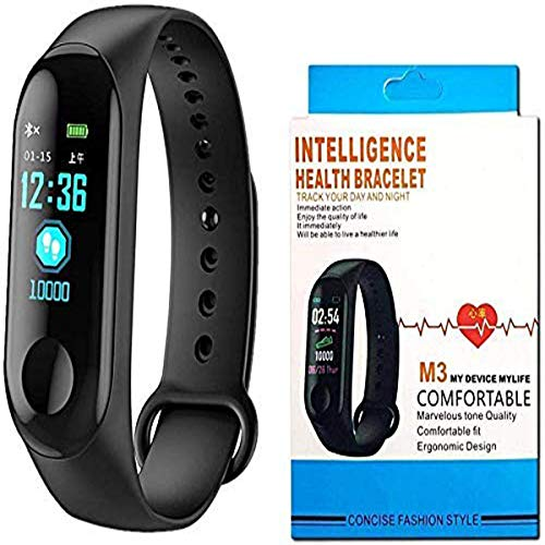 Cart Villa Activity Tracker, Bluetooth Fitness Smart Health Band/Smart Fitness Band Compatible for All Device Touch Screen Smart Watch Black