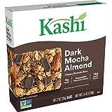 Kashi Chewy Granola Bars, Fiber Bars, Vegan Snacks, Dark Mocha Almond, 7.4oz Box (6 Bars)