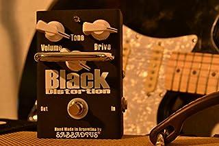 Sabbadius Custom Pedal Effects Black Distortion Negro interruptor de sonido