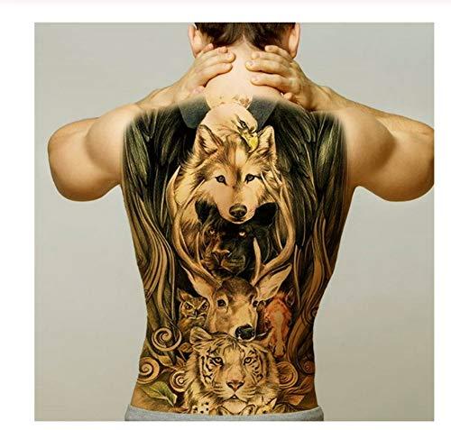 2 Blatt Männer Temporäre Tattoo Aufkleber Körper Kunst Wasserdichte Flügel Tattoo Große Vintage Sexy Volle Rücken Tattoo Jungen Stammes Mode Aufkleber -A10