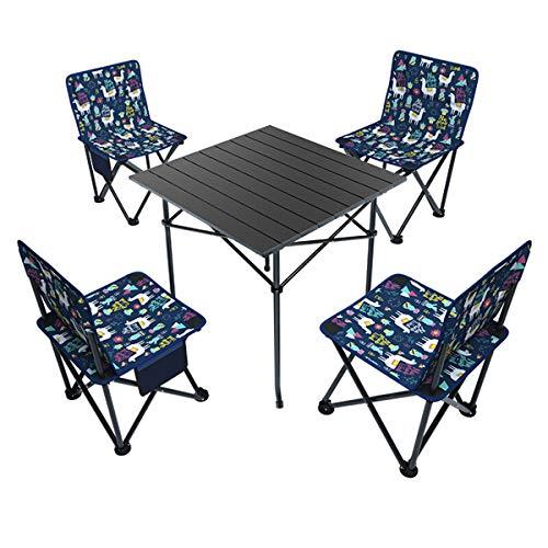 Mesa Multifuncional Plegable, mesas y sillas Camping Mesa Plegable Camping con sillas...