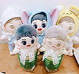 15cm 20cm Kpop EXO Baby Dolls Baekhyun Chanyeol Plush Toy +Bibs +Pants Original (20cm Baekhyun Doll+Bibs+Pants)