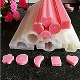 ausuky DIY Handseife Form Silikon Herz Rohr Säulen Form selbstgemacht Basteln Kerze Seife Kuchen...