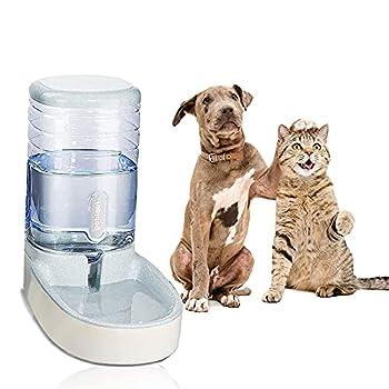 U Yoo 3.8L Distributeur Automatique d'eau d'animaux Distributeur de Croquettes et Eau Voyage Mangeoirs et Abreuvoirs Accesoires Gamelle Nourriture pour Chat Chien Lapin