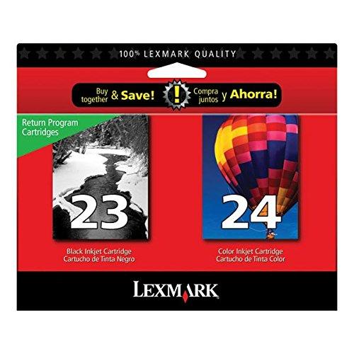 Lexmark # 23/# 24X3550/X4550/Z1420negro/incluye 1de cada 18C1523cartucho de tinta de color 18C1524vender sólo uno