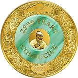 Power Coin Confucius Confucio 2500 Aniversario 2 Oz Moneda Oro 25$ Solomon Islands 2021