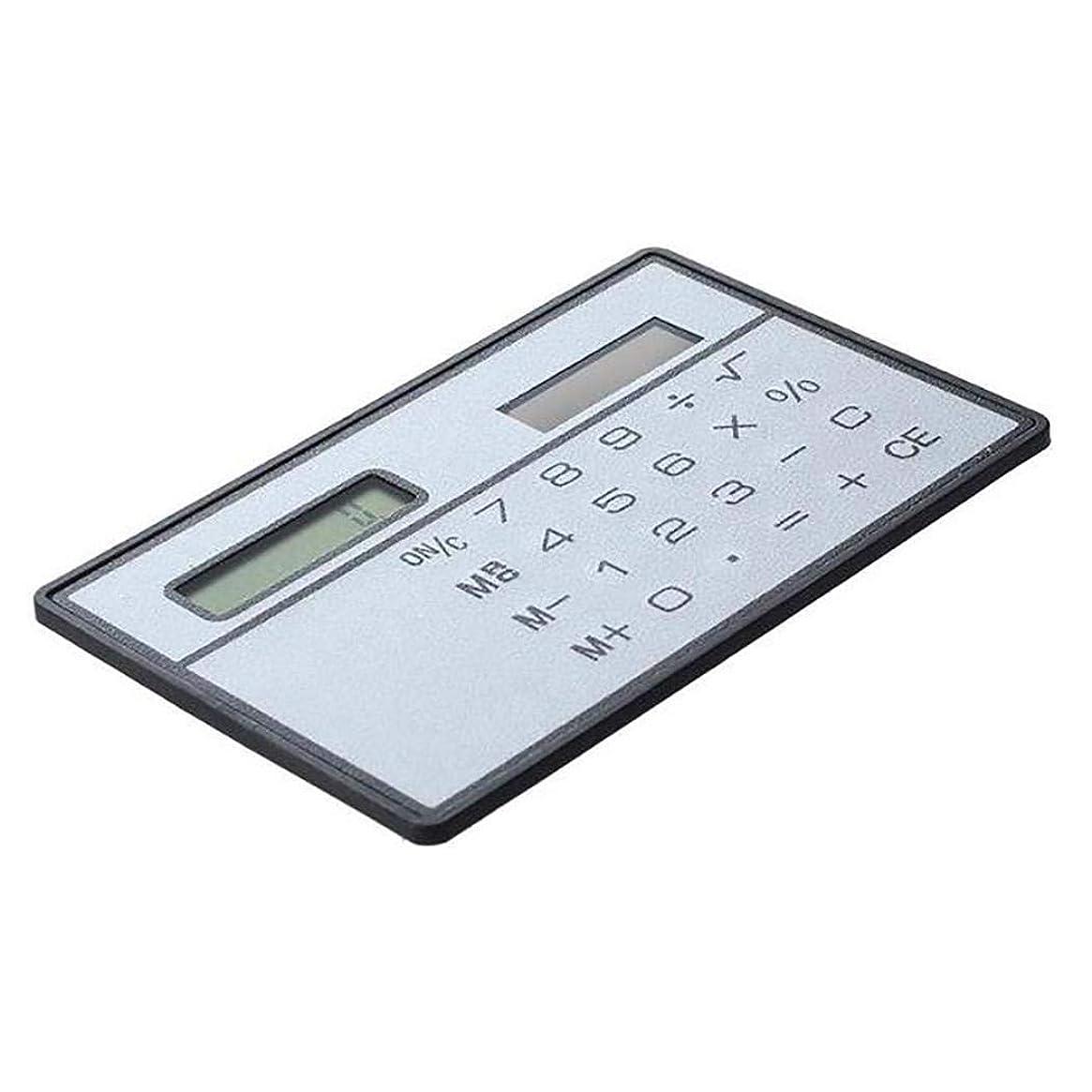 乱闘に向けて出発トークEvelove 薄型 ライト ミニ計算機 ポータブル 太陽電池式 省エネ 電卓 ベーシック