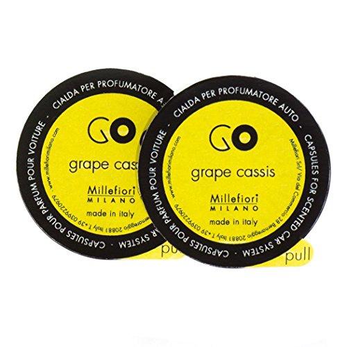 Millefiori Milano 13RGGC Grape Cassis Capsule Refill per Deodorante per Auto Go