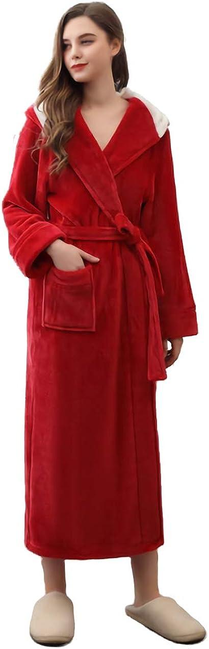 SAPJON Ultra-Cheap Deals Womens Bathrobes Flannel Long New life Soft Warm Robes Fleece