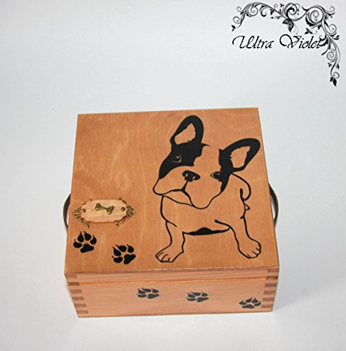 Exklusive Teebox ,Tee, Tea, Teebeutel ,Teekiste , wood, Französisch Bulldog, French Bulldog