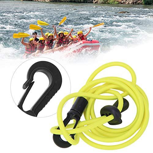 Alomejor Kajak Paddelseil Elastische Ruderboote Leine Paddel Kajak Zubehör Kanu Elastisches Bungee Seil 50 Zoll(Leuchtendes Grün)