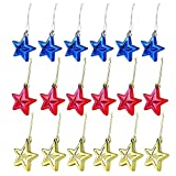 Amersumer 18 Pcs Christmas Star Ornaments, Hanging Holiday Star Ornaments for Chrismas Tree, Christmas Tree Decoration, Party Decor Bulk, Star Ornaments for DIY, Crafts, School Project or Home