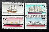 FGNDGEQN Colección de Sellos Sellos alemanes 1977 Barcos y...