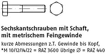 Zeskantschroeven ISO 8765 8.8 M 10 x 1,25 x 110 VE = S 50 stuks