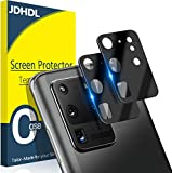 [ 2 Pack ] JDHDL Camera Lens Protector for Samsung, 9H Tempered Glass Metal Frame Black 3D Full Coverage Anti-Scratch/Dust Strong Adsorption Anti Flash (Galaxy S20 Ultra(6.9'))