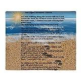 CafePress Footprints in The Sand Throw Blanket Soft Fleece Throw Blanket, 50'x60' Stadium Blanket