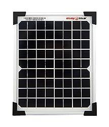 enjoysolar® high quality monocrystalline solar panel solar module ideal for mobile homes, garden sheds, boats (30W)