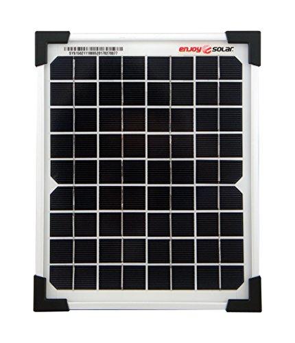 enjoysolar® Mono 5W Solarpanel 12V Solarmodul Monokristallin