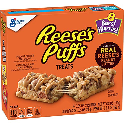 Reese's Puffs Cereal Bars, 8 Bars (Pack of 6)
