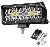 Bandas de faros del coche 7 pulgadas 120W LED LED de trabajo Lámpara de conducción Lámpara de conducción para barcos Offroad Tractor Tractor 4x4 SUV FOG Light 9V 30V Faro para la barra LED ATV