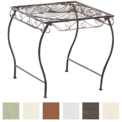 CLP Eisentisch Zarina Design I Robuster Gartentisch mit kunstvollen Verzierungen Bronze