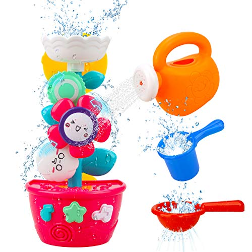 GOODLOGO Flower Bath Toys Bathtub Toys for Toddlers Babies Kids 2 3 4 Year Old...