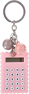 fosa Mini Portable Cute Cookies Style Key Chain Calculator for Kids Children Gift, Candy Color Pocket Standard Function Ca...