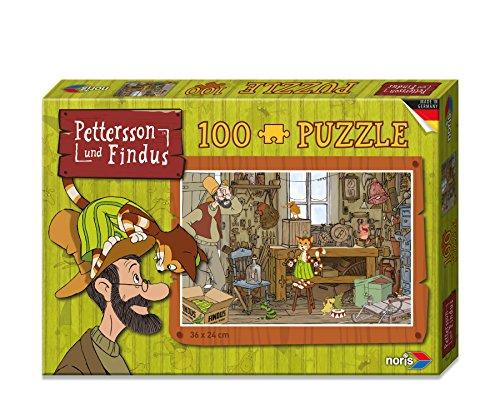 noris 606031351 - Pettersson Findus Werkstatt Puzzle, 100-teilig
