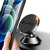 [8 Strong Magnets] Humixx Car Phone Holder Mount Magnetic [Aviation-Grade Alloy] 360° Rotation Universal Magnetic Cell Phone Holder for Car Dashboard Fit for iPhone 13 Pro Max/ 12 Mobile Phones