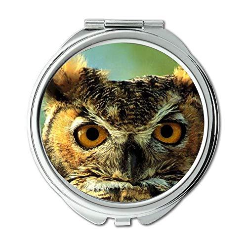 Specchio, specchio compatto, occhiale civetta, specchio tascabile, specchio portatile