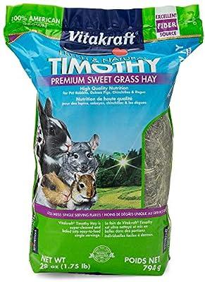 Vitakraft Timothy Hay - Premium Sweet Grass Hay - 100% American Grown, 28 Ounce Resealable Bag by Vitakraft