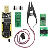 KeeYees SOP8 SOIC8 Test Clip and CH341A USB Programmer Flash for Most of 24 25 Series EEPROM BIOS Chip