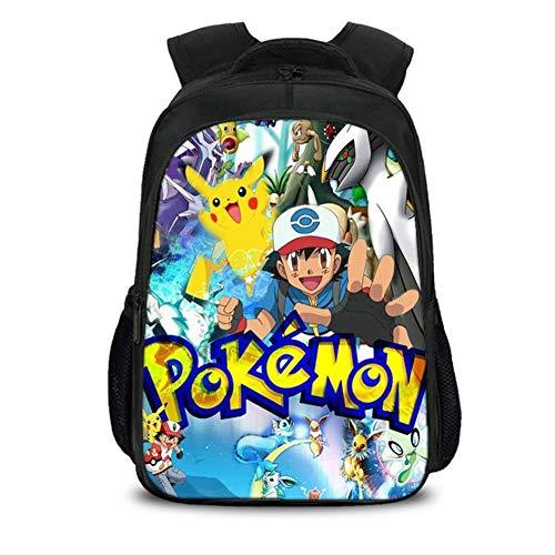 UNILIFE Juego De Mochila para Niños Mochila De Pokemon Mochilas Escolares con Estampado De Dibujos Animados para Estudiantes De Primaria 18 L