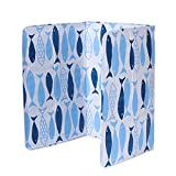 Large Insulated Anti Splatter Shield Guard, Spatter-Proof Oil Barrier High Temperature Resistant Aluminum Foil Board Kitchen Cooking Frying Oil Splash Screen Cover(Small fish)