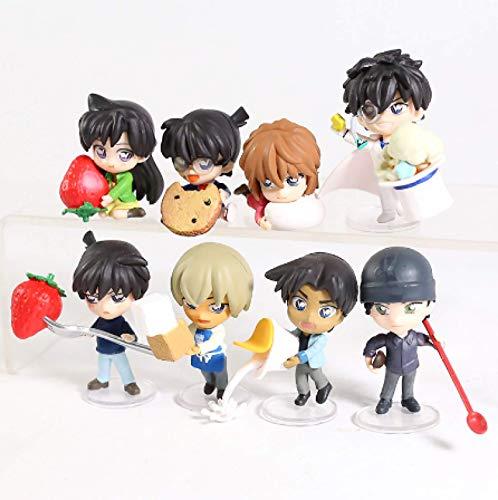 8-teiliger Detektiv Conan Mouri Heiji Hattori Kudou Shinichi Kaitou Kiddo Puppen PVC Figur Spielzeug