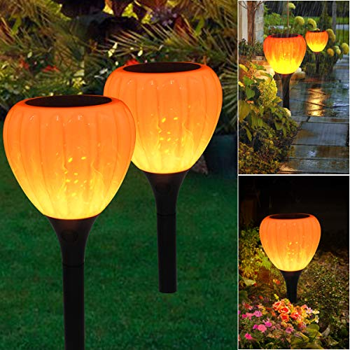 Solar Pathway Lights Outdoor Waterproof,2 Packs,Solar Powered Garden Decorations,LED Landscape Path Lights for Patio, Lawn,Yard,Walkway